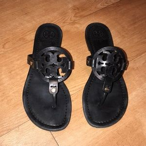 Tory Burch Miller Matte Black Sandals